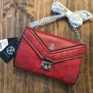 Handbags - Small Red Purse w/chain strap